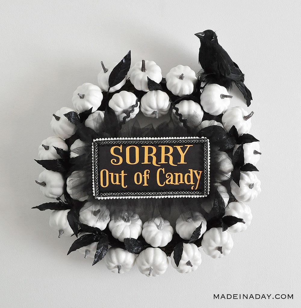 Sorry out of candy white pumpkin wreath