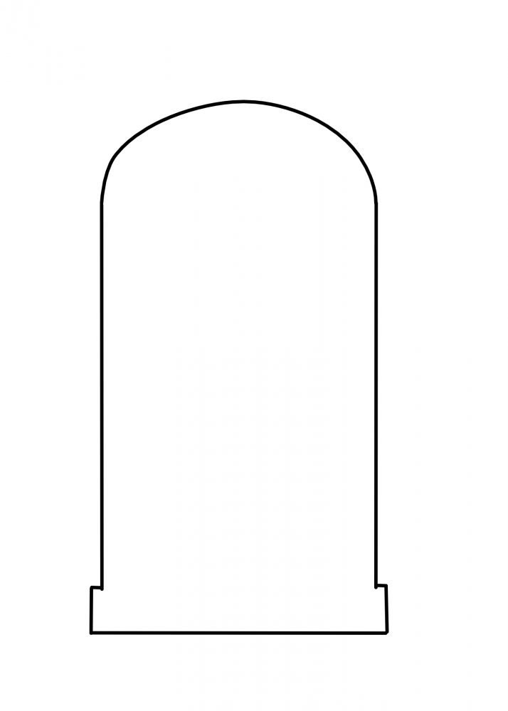 round tombstone template