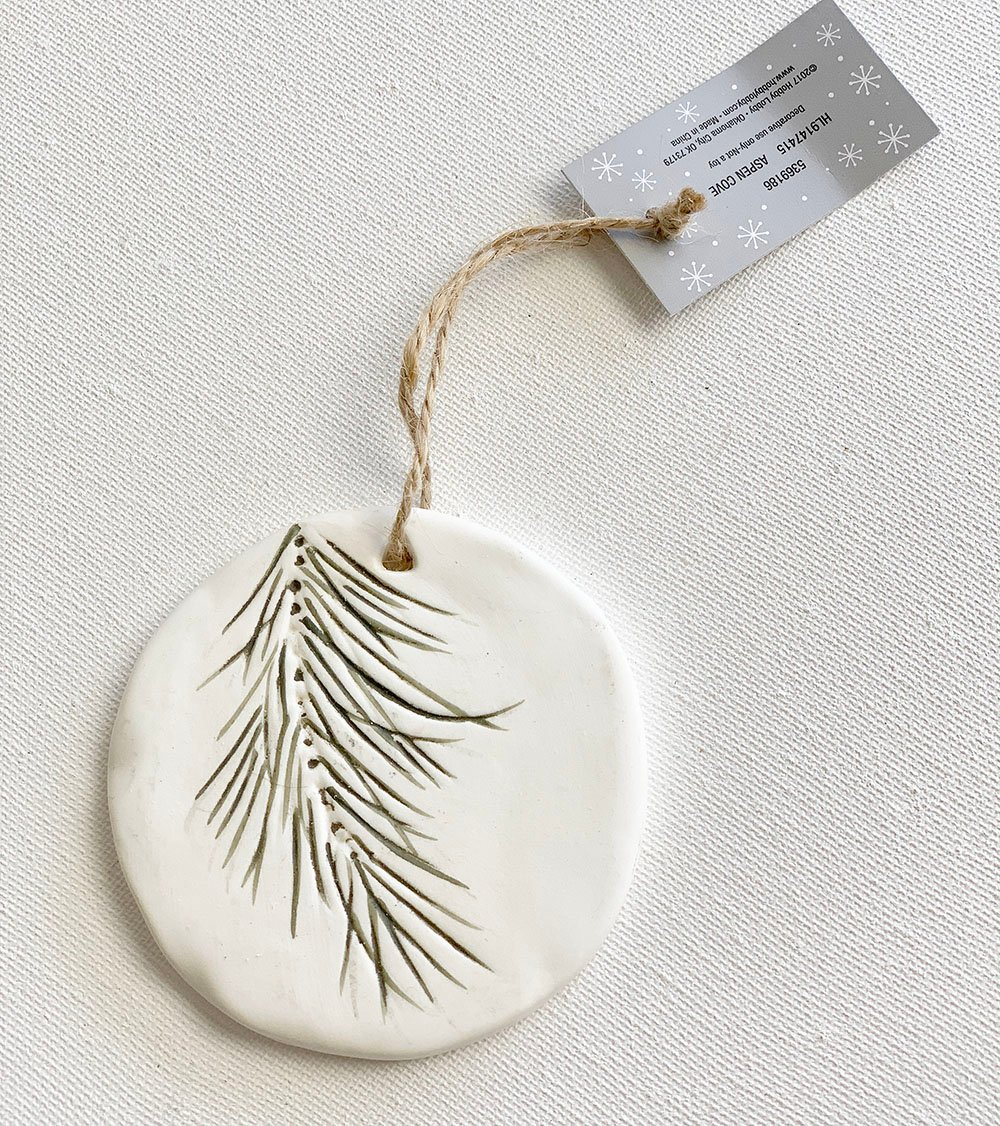 Polymer Christmas Ornament,