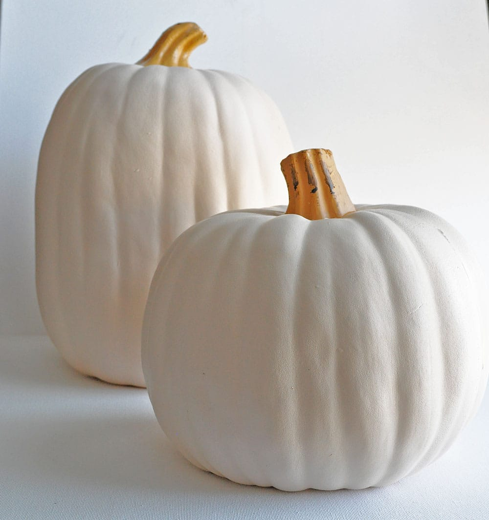 white faux pumpkin
