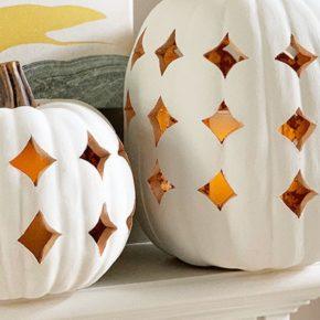 Stunning Shimmering Boho Pumpkin Luminaries 31