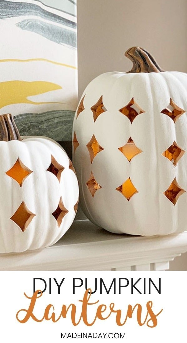 Shimmering Boho Pumpkin Luminaries, pumpkin lanterns, pumpkin Jack O'Lantern, faux ceramic pumpkin, filigree pumpkin, lighted pumpkin, carve a faux pumpkin, how to carve foam pumpkins, white pumpkin lantern, faux clay pumpkin luminary, #pumpkin #fallpumpkin #whitepumpkin #falldecor #fall #lantern #jackolantern #luminary #pumpkincarving #faux #boho #bohemian #modernboho #modernbohemian