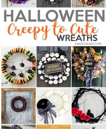 Creepy to Cute Halloween Wreath Trends 31