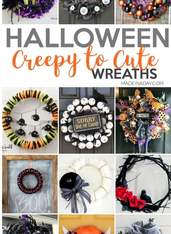 Creepy to Cute Halloween Wreath Trends 6