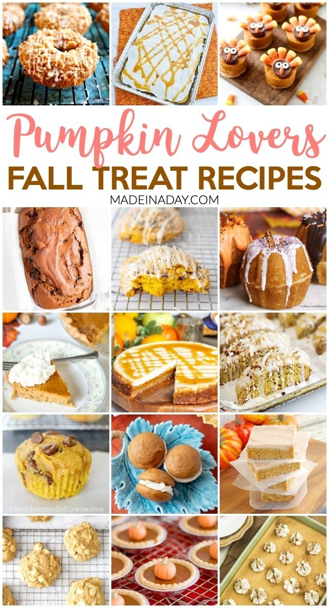 Pumpkin Lovers Fall Treat Recipe Collection. Pumpkin bread, pumpkin pie, pumpkin cheesecake, pumpkin cookies, pumpkin poke cake, pumpkin donuts, pumpkin biscotti, pumpkin sheet cake, pumpkin whoopie pies, pumpkin bundt cake. pumpkin muffins #pumpkin #pie #cake #cheesecake #cookies #whoopiepie #pumpkinpie #pumpkinpiespice #muffins #recipes #sweets #dessert