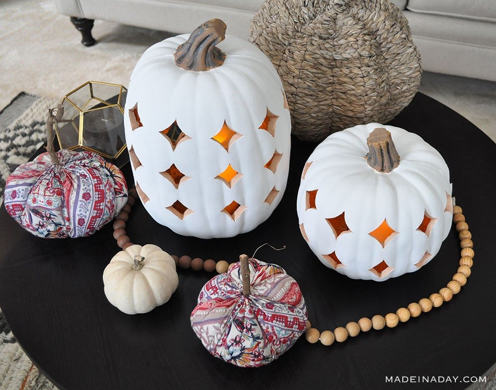 global pumpkin lanterns, global pumpkin luminaries, white pumpkin luminaries