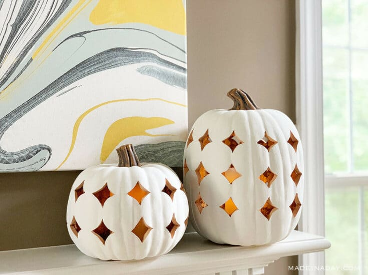Shimmering Boho Pumpkin Luminaries