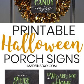 Halloween Porch Signs: Out of Candy, Not Home, Take One 29