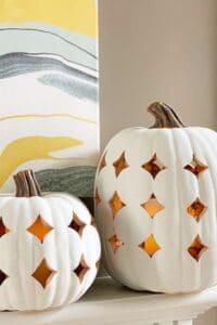 Stunning Shimmering Boho Pumpkin Luminaries