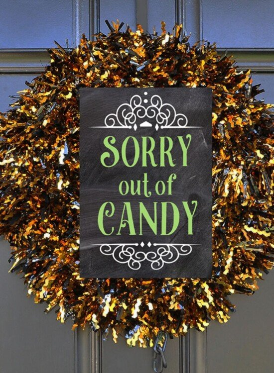 Halloween Porch Signs Out of Candy + Take One 2