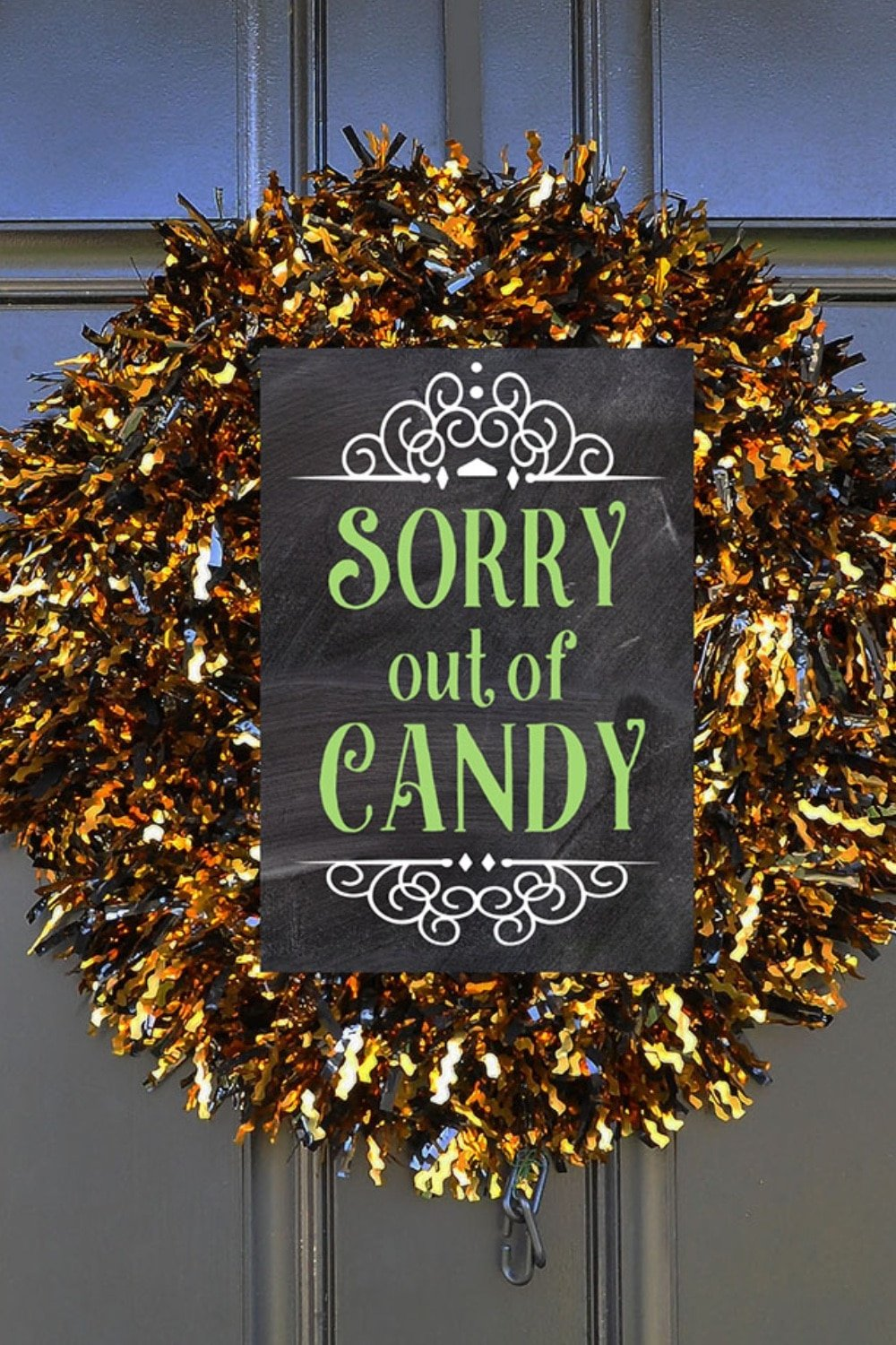 Halloween Porch Signs: Out of Candy, Not Home, Take One 2