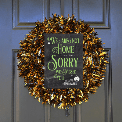 Printable Halloween Porch Signs: Out of Candy | Not Home | Take One