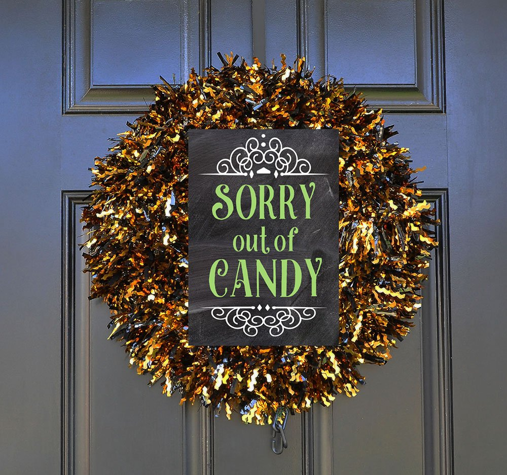 Trick or treat out of candy sign, Candy bowl sign, sorry out of candy printable