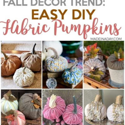 Fall Trend: DIY Fabric Pumpkin Tutorials