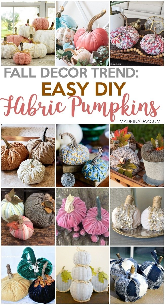 Fall Trend: The Best DIY Fabric Pumpkin Tutorials, fall pumpkins, fabric pumpkins, velvet pumpkins, faux pumpkins, fabric covered pumpkins, buffalo plaid pumpkins, no sew pumpkin #pumpkins #fabricpumpkin #pumpkindecor #fallpumpkin #falldecor #DIYpumpkin #nosewpumpkin #trend