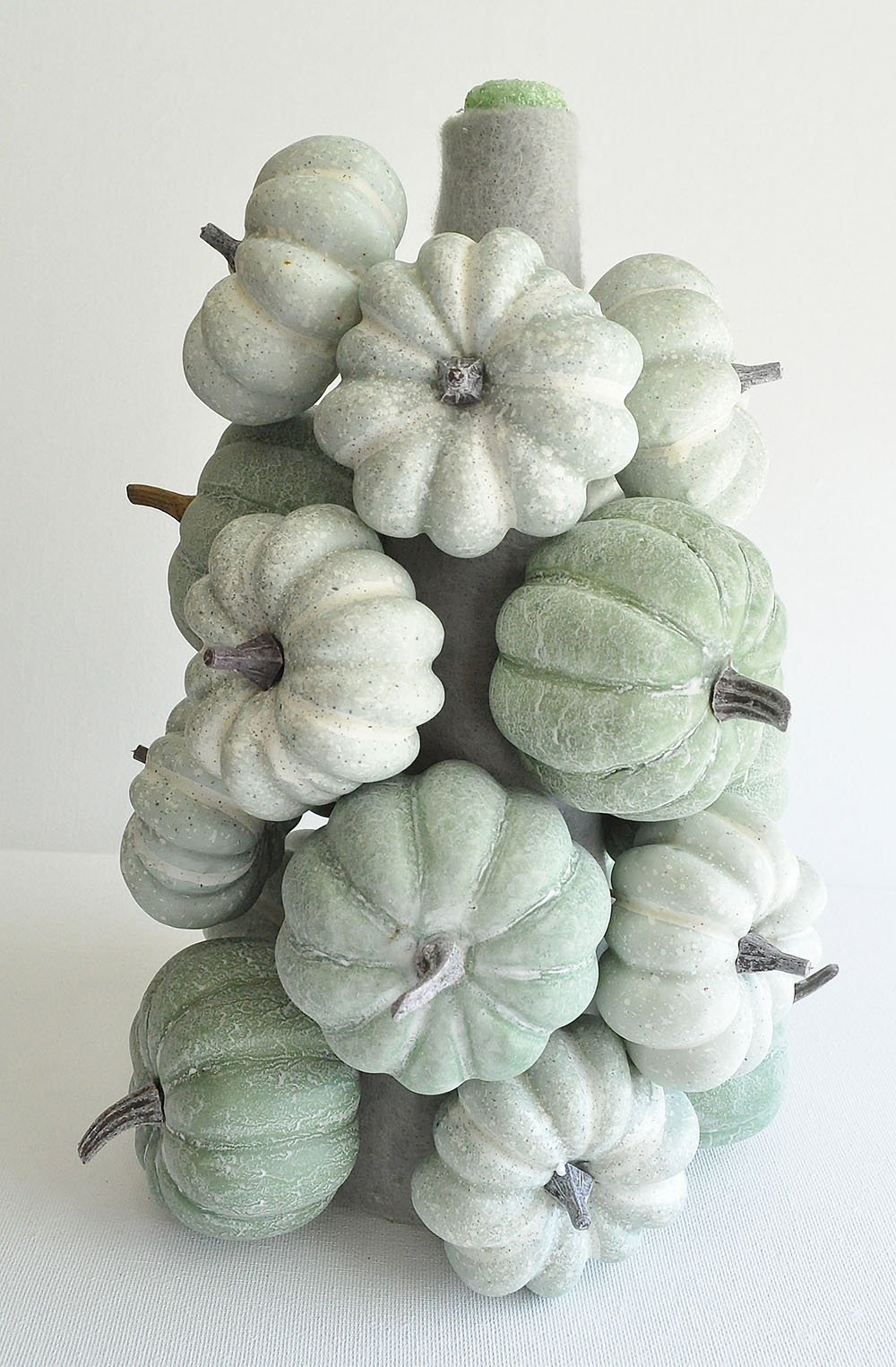 Thanksgiving Pumpkin Topiary Centerpiece, Small stacked pumpkin centerpiece, how to make a topiary