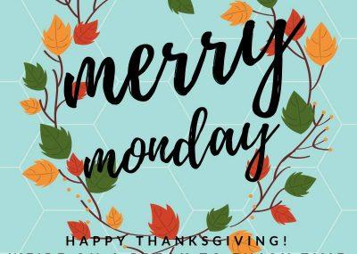 Thanksgiving Merry Monday Linky Party Break 6