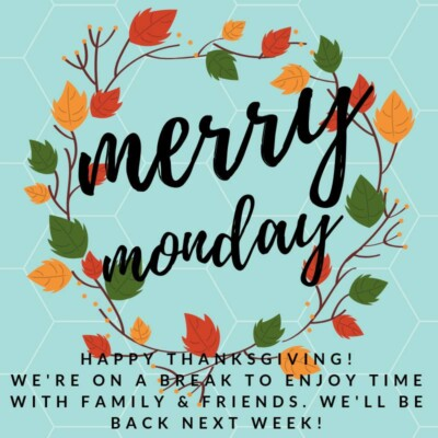 Thanksgiving Merry Monday Linky Party Break