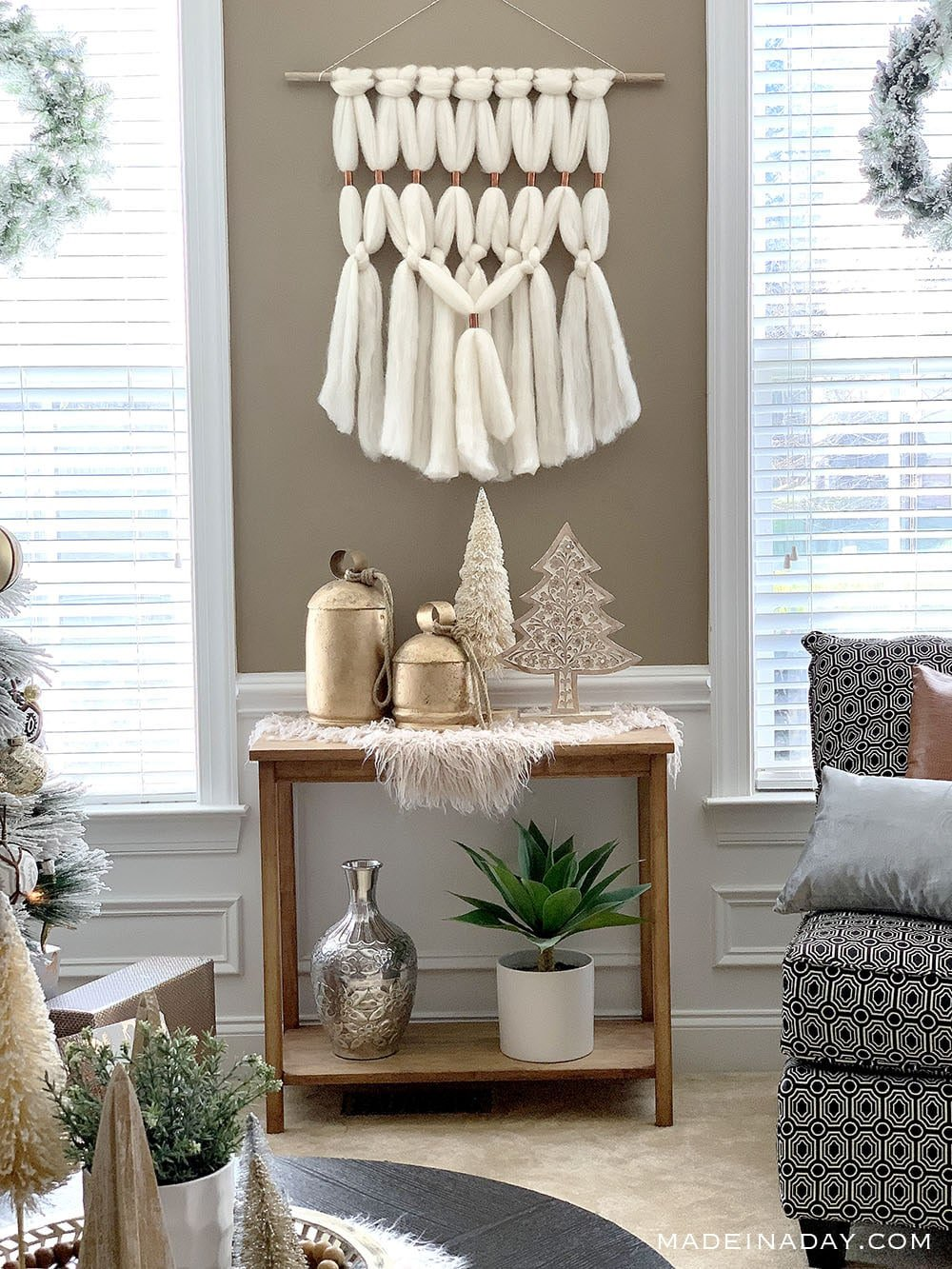 Eclectic Shabby Chic Free Style Bohemian Christmas Decorating, Farmhouse Boho Christmas