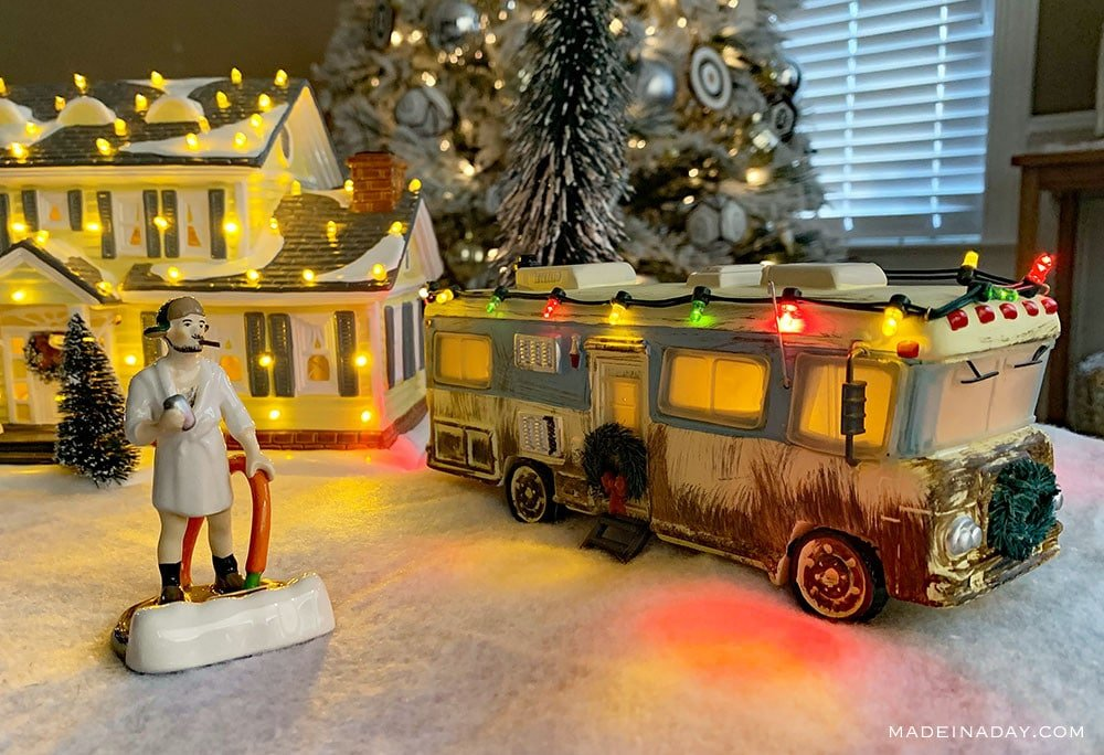 Cousin Eddies RV Collectables, Lit Porcelain Cousin Eddie RV,