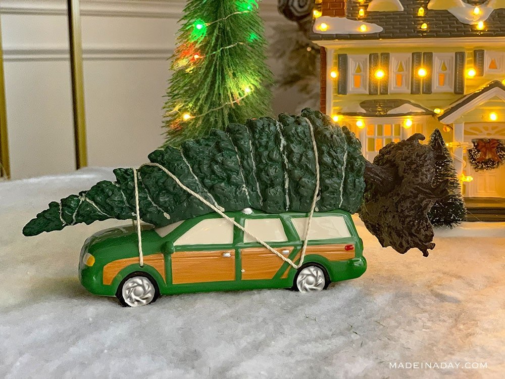 National Lampoons Christmas Vacation Village Griswold Family Christmas Station Wagon,