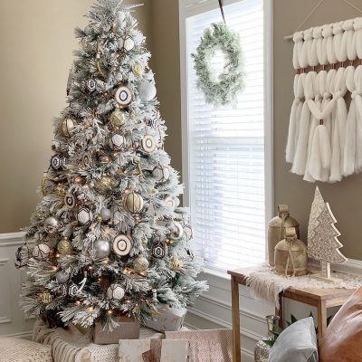 Eclectic Bohemian Style Christmas Tree