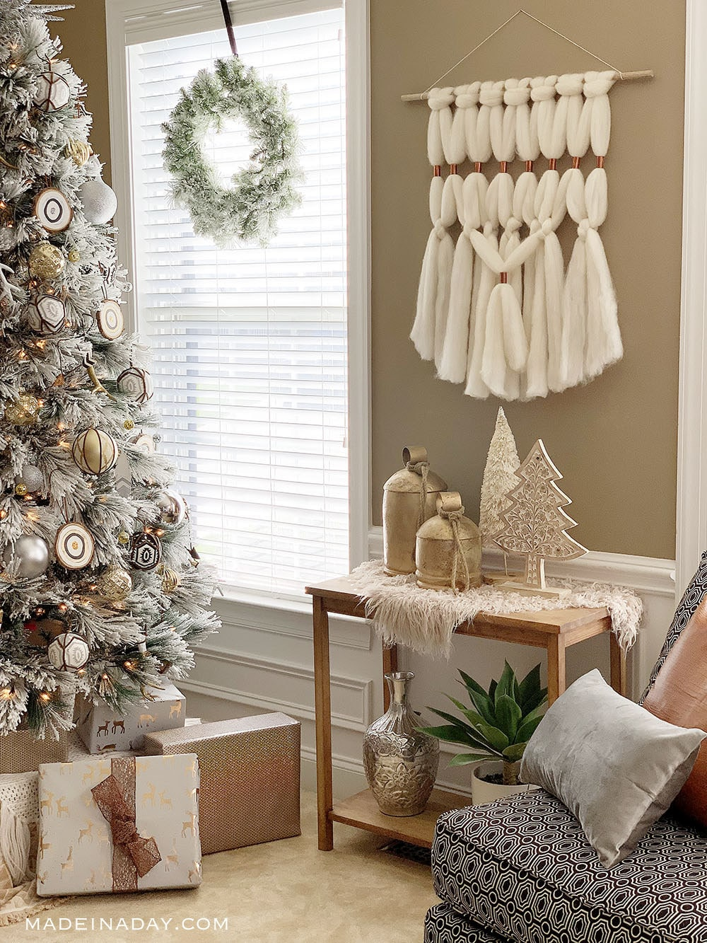 Blush Gold Natural Global Style Christmas Home Tour, Free Spirit Christmas Decor,
