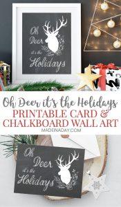 Adorable Oh Deer Christmas Card Printables 1
