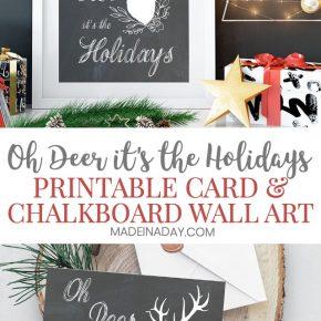 Adorable Oh Deer Christmas Card Printables 31