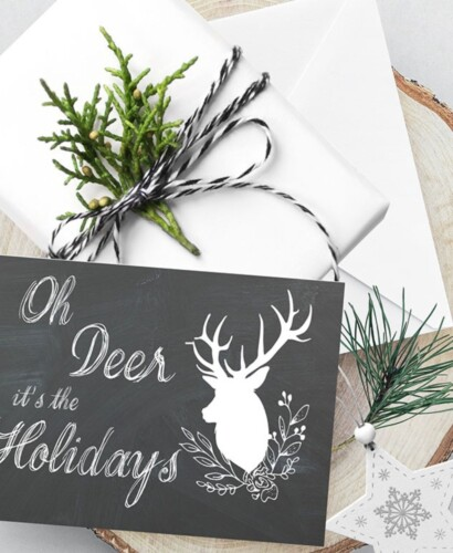 Adorable Oh Deer Christmas Card Printables 30