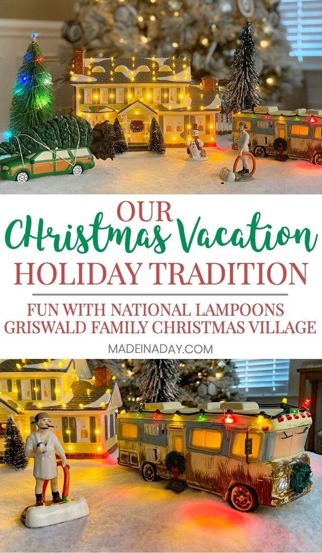 Our National Lampoons Christmas Vacation Holiday Tradition, #sponsored #Christmas #Griswold #CousinEddie #holidaydecor #ChristmasVillage #Holiday #GriswoldfamilyChristmas #Griswolds #nationallampoonsChristmasvacation #clarkgriswold #tradition #christmastradition #martymoose #wallyworld #ohclark #griswoldChristmas