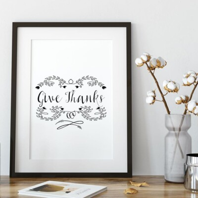 """Give Thanks"" Printable Thanksgiving Table Setting"