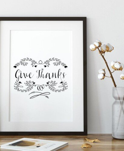 """Give Thanks"" Printable Thanksgiving Table Setting 3"