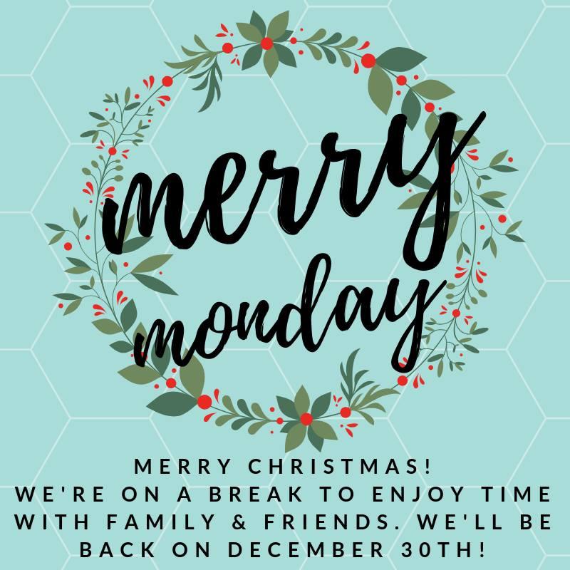 Merry Christmas! Merry Monday Linky Party Break! 29