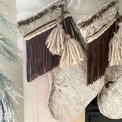 Fringe + Tassel Boho Christmas Stockings