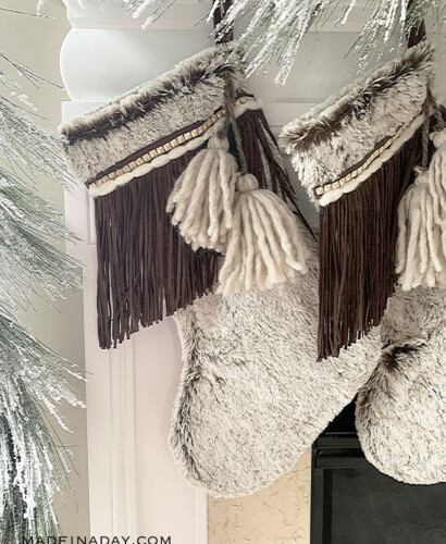 Beautiful Fringe Boho Christmas Stockings 4