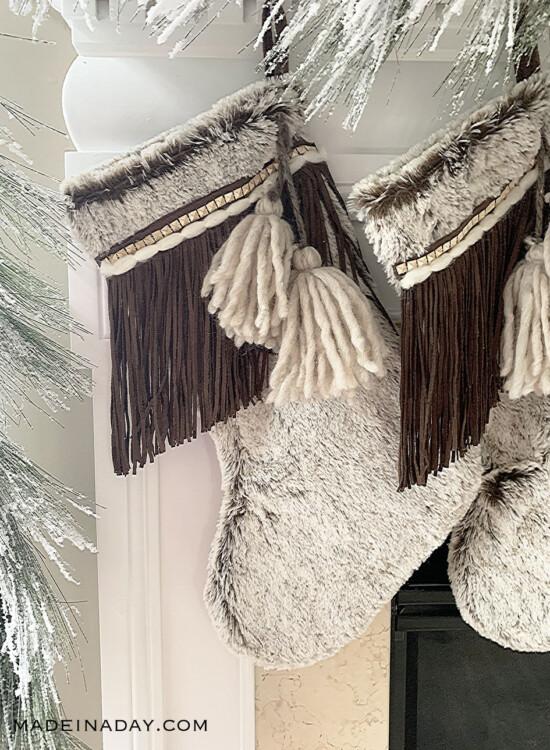 Beautiful Fringe Boho Christmas Stockings 39