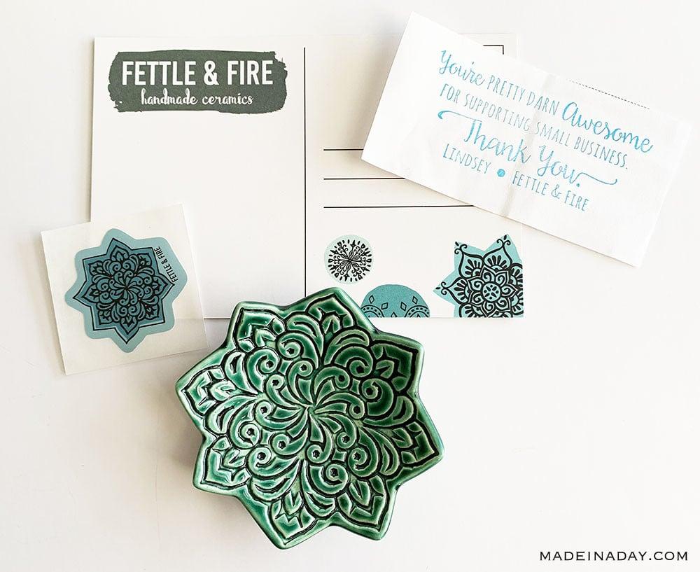 Fettle & Fire Trinket Bowl, Emerald Green jewelry ring dish, Mandala ring dish