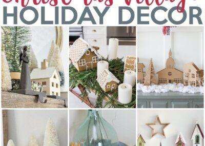 10 Fascinating Christmas Village Holiday Decoration Ideas 25