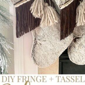 Beautiful Fringe Boho Christmas Stockings 1
