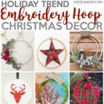 Trendy Embroidery Hoop Christmas Decorations 1