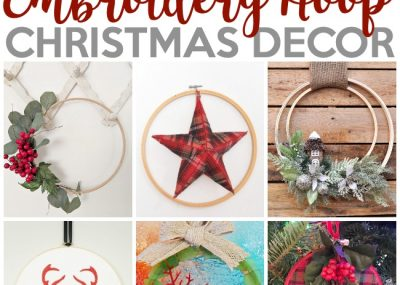Trendy Embroidery Hoop Christmas Decorations 3