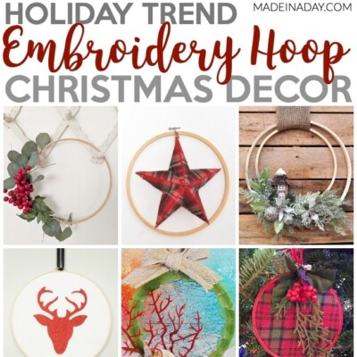 Embroidery Hoop Christmas Decorations