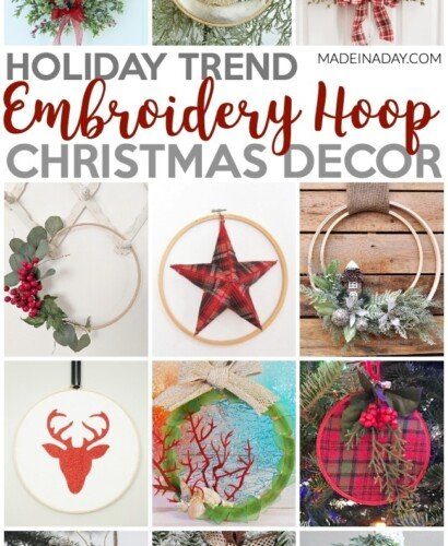 Trendy Embroidery Hoop Christmas Decorations 31