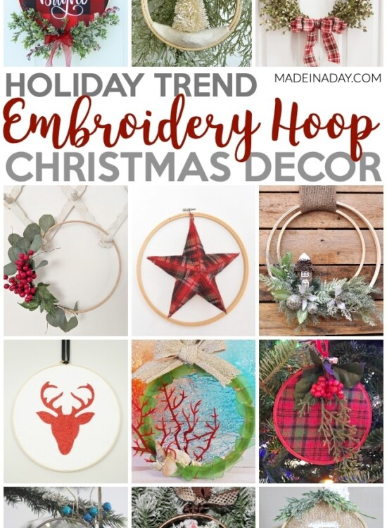 Trendy Embroidery Hoop Christmas Decorations 2