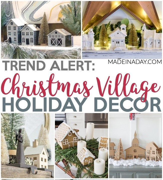 10 Fascinating Christmas Village Holiday Decoration Ideas Made In A Day