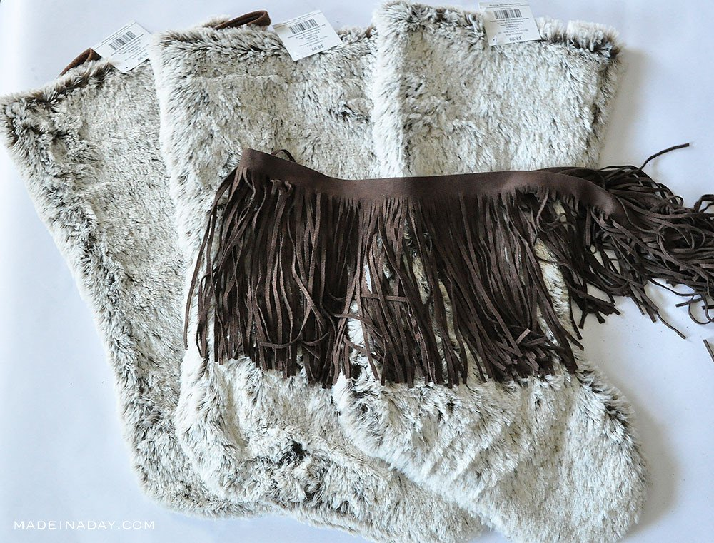 DIY Fringe fur stocking