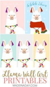 Peace Love and Llama Printable Wall Art 1