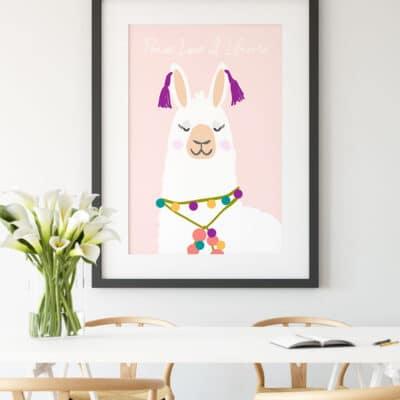 National Llama Day: Llama Printable Wall Art