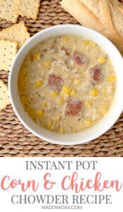 Creamy Instant Pot Chicken Corn Chowder 1